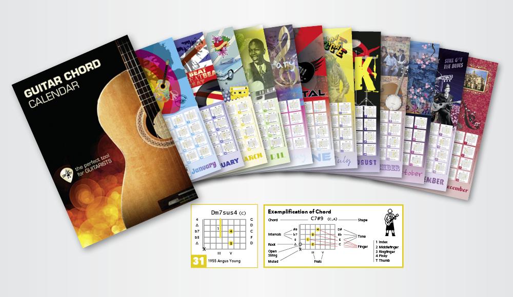 Guitar chord Calendar By Landy